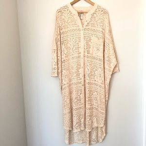 FP Beach Lace Tunic Dress